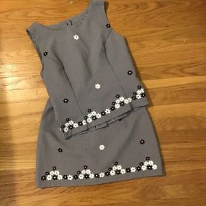 Stella USA top and skirt gingham S